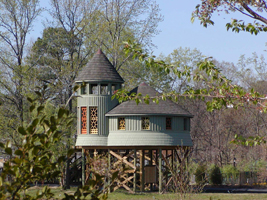 Treehouse at the Children's Garden at the Lewis Ginter Botanical Garden